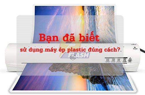 Hướng dẫn sử dụng máy ép plastic đúng cách