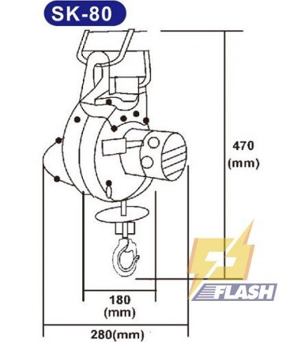 Thông tin A-Z máy tời điện mini Kio Winch SK-80 80kg - 261661