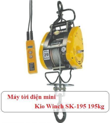 Máy tời điện mini Kio Winch SK-195 195kg