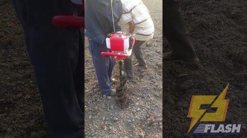 nguyên lý hoạt động của máy khoan lỗ trồng cây