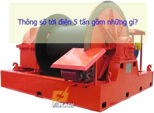 thông số tời điện 5 tấn
