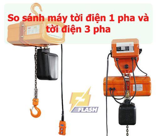 tời điện 1 phatời điện 3 pha