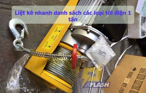 tời điện 1 tấn
