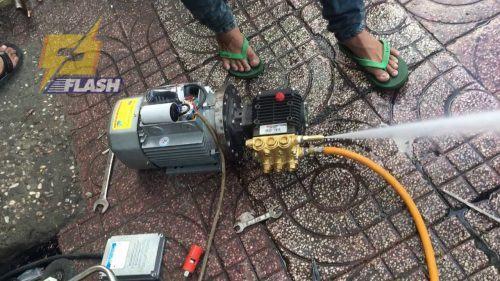 máy xịt rửa xe tự chế