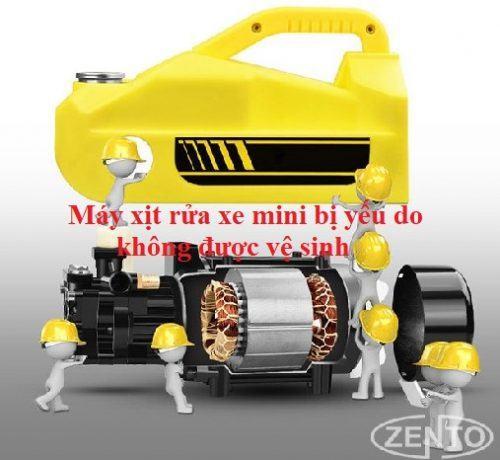 máy rửa xe cao áp mini bị yếu