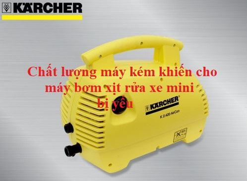 máy rửa xe áp lực cao mini bị yếu