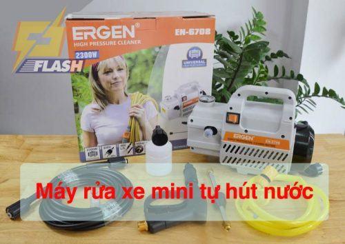 máy rửa xe mini tự hút nước