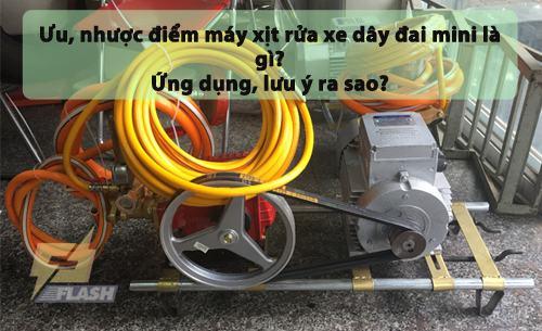 Máy xịt rửa xe dây đai mini