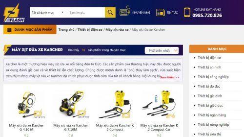 mua máy phun xịt rửa xe áp lực Karcher ở Hà Nội