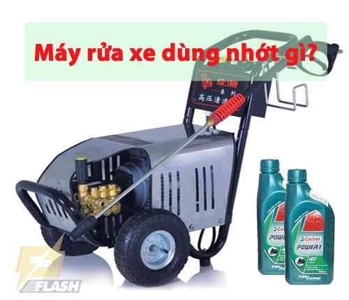 cách thay nhớt máy rửa xe
