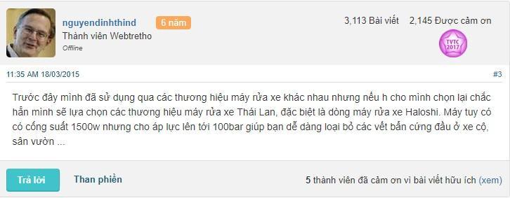 máy rửa xe cao áp mini Thái Lan tốt không