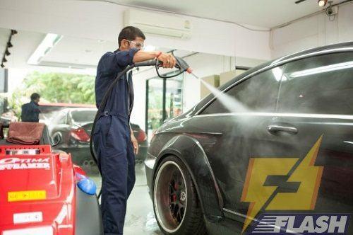 cách rửa xe oto
