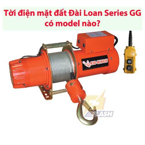 Tời điện mặt đất Đài Loan Series GG có model nào