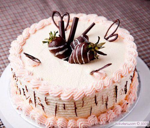 bánh sinh nhật 1 tầng đẹp